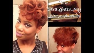 getlinkyoutube.com-Process: How I Straighten My Tapered Natural Hair