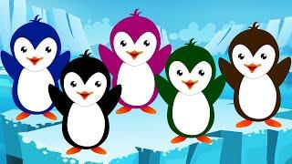 getlinkyoutube.com-Five Little Penguins | Nursery Rhyme And Kids Songs