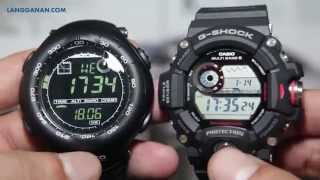 getlinkyoutube.com-Suunto Vector HR VS Casio G Shock Rangeman GW-9400-1