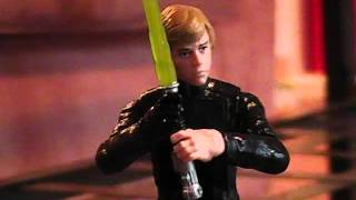 getlinkyoutube.com-Star Wars:  Luke Skywalker vs. Anakin Skywalker (Stop-motion)