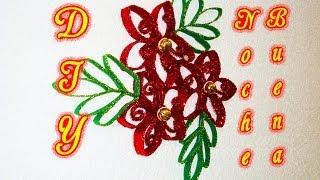 getlinkyoutube.com-FLOR DE NOCHEBUENAS   ADORNOS NAVIDEÑOS/CHRISTMAS ORNAMENTS   RECICLAJE   DIY - YuureYCrafts