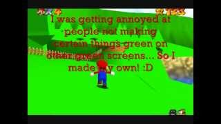 getlinkyoutube.com-Super Mario 64: Green Screen Rom