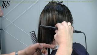 getlinkyoutube.com-Cut of my long hair , make a side shave and colorful Asymmetric bob Helena by T.K.S.
