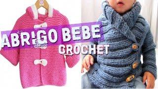 getlinkyoutube.com-Abrigo Para Bebe - Tejidos a Crochet y Dos Agujas