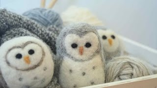 Needle Felted Owl: A Beginner's Guide to Felting