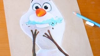 getlinkyoutube.com-Drawing: OLAF | Frozen | BUGDET ART