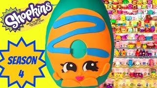 getlinkyoutube.com-SHOPKINS SEASON 4 Dolly Donut Play Doh Surprise Egg | Sweet Spot Gumball Playset Limited Edition Hun