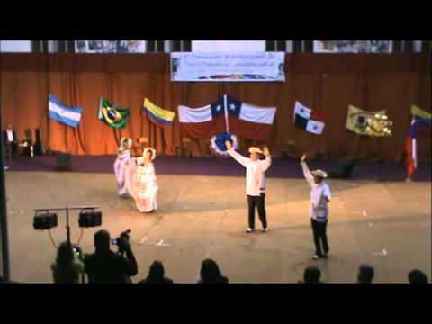 Agrupacion Panama Folklore en Chile Gala IIParte