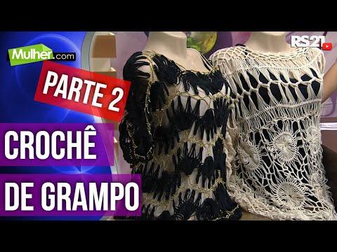 Mulher.com 04/03/2015 Bata perola crochê de grampo por Helen Mareth Parte 2