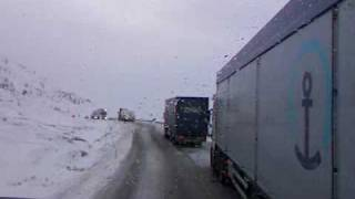 Foreign Truckers on Norwegian Snow