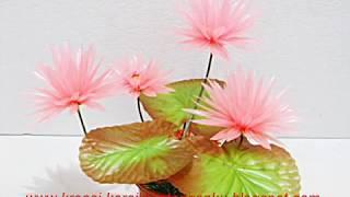 getlinkyoutube.com-Membuat Bunga Teratai Dari Sedotan