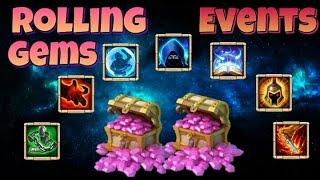getlinkyoutube.com-Castle Clash Rolling 21k Gems + tons of events!