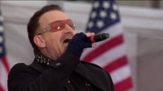 getlinkyoutube.com-U2 - Pride + City Of Blinding Lights Live Obama Concert Washington [HD - High Quality]