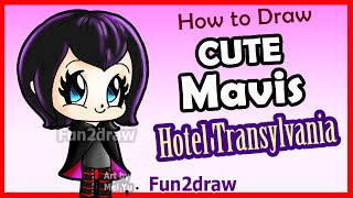getlinkyoutube.com-How to Draw Cute Mavis Vampire Girl - Hotel Transylvania + Fun Facts - Fun2draw