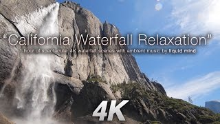 getlinkyoutube.com-4K California Waterfall Relaxation + Music by LIQUID MIND Nature Relaxation Video