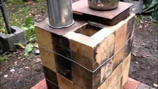 getlinkyoutube.com-Rocket Stove Ideas 33 - Brick Box Rocket Stove