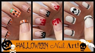 getlinkyoutube.com-Halloween Nail Art! Three French Manicure Designs | MissJenFABULOUS