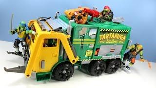 getlinkyoutube.com-Teenage Mutant Ninja Turtles Out of the Shadows Tartaruga Brothers Garbage Truck