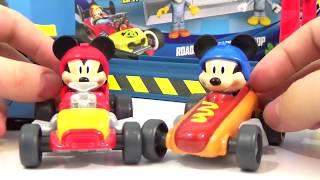 getlinkyoutube.com-DISNEY MICKEY AND THE ROADSTER RACERS Play Set, Mustard Run, Speed N' Spill Raceway, Kids Toys