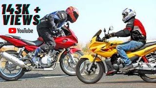 getlinkyoutube.com-Pulsar 220 vs Karizma R race by Prithvi itapé)