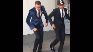 Stephen Curry and Chance The Rapper do the