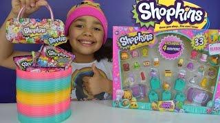 getlinkyoutube.com-Giant Shopkins Season 3 Super Shopper Pack - Season 2,3 Blind Bags Slinky Surprise