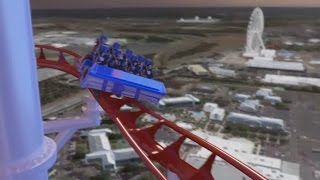 getlinkyoutube.com-World's tallest coaster - Skyscraper coming to Skyplex Orlando - CGI rendering
