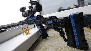 getlinkyoutube.com-Lego rifle [power test]