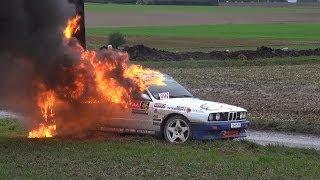 getlinkyoutube.com-Crash Renaud Verreydt + fire - Rallye du Condroz 2013