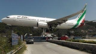 getlinkyoutube.com-Skiathos, the Second St Maarten! Low Landings and Jetblasts - A Plane Spotting Movie