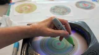 getlinkyoutube.com-Sharpie Spin Art Tutorial