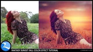 getlinkyoutube.com-Photoshop CC Tutorial - Fantasy Sunset Fall Color Effects