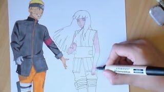 getlinkyoutube.com-SPEED DRAWING Hinata&Naruto 【Naruto The Last Movie】