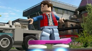 getlinkyoutube.com-LEGO Dimensions - Marty McFly Open World Free Roam (Character Showcase - Hill Valley)