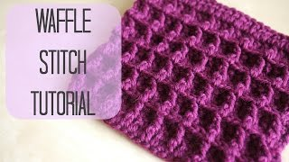 getlinkyoutube.com-CROCHET: How to crochet the Waffle stitch | Bella Coco