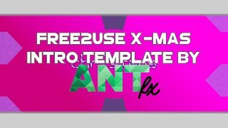[#116] Free2Use Christmas Intro Template by AntFX   Merry Christmas!!! :D   (Blender Only)