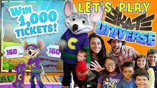 getlinkyoutube.com-Win 1,000 Tickets FREE! Lets Play Chuck E. Cheese Skate Universe w/ Fan Meet & Greet!!