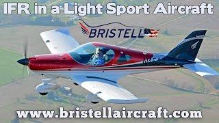 IFR in a Bristell LSA, IFR in a light sport aircraft, Bristell Aircraft.