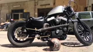 getlinkyoutube.com-Harley davidson 883 iron custom bobber chopper sound 2011/2