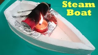 getlinkyoutube.com-How to Make a Steam Boat using bottle at Home
