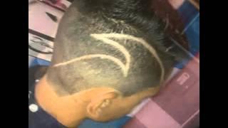 getlinkyoutube.com-Cortes de cabelo /disfarçados/riscos/tribals/desenhos!!magrinho santos