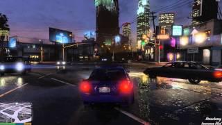 getlinkyoutube.com-[PC] [4K] Grand Theft Auto V Max Settings - Night time drive test