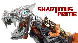 getlinkyoutube.com-Transformers 4 Age of Extinction Grimlock Leader Class Movie Action Figure Review