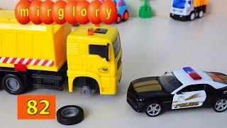 getlinkyoutube.com-Машинки мультфильм - Город машинок 82 серия: Ремонт мусоровоза. Развивающие мультики mirglory