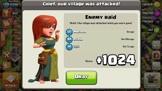 getlinkyoutube.com-+1024 TROPHIES ON DEFENCE IN 12 HOURS! CLASH OF CLANS | FASTEST WAY TO GAIN TROPHIES TH10 275 Walls