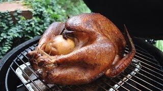 getlinkyoutube.com-Smoked Turkey on The Big Green Egg
