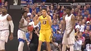 Un éxito total fue el partido amistoso de basketball entre las Universidades de Kansas y Missouri