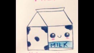 getlinkyoutube.com-¿Como dibujar una milk o lechita kawaii? ♥