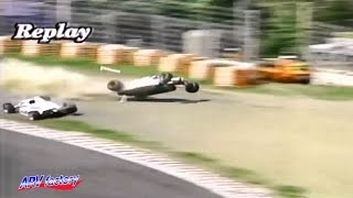 getlinkyoutube.com-Hitoshi Ogawa Fatal Crash 1992 All Japan F3000