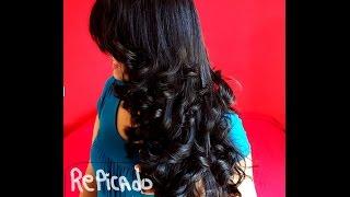 getlinkyoutube.com-COMO CORTAR CABELO  REPICADO EM CAMADAS EM CASA!! How to cut your own hair